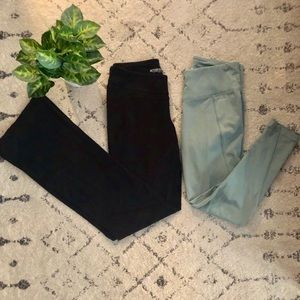 Bundle Jockey Leggings & Old Navy Black Yoga Small